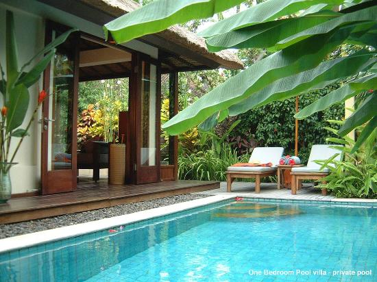 The Pavilions Bali: the private pool of One Bedroom Pool villa