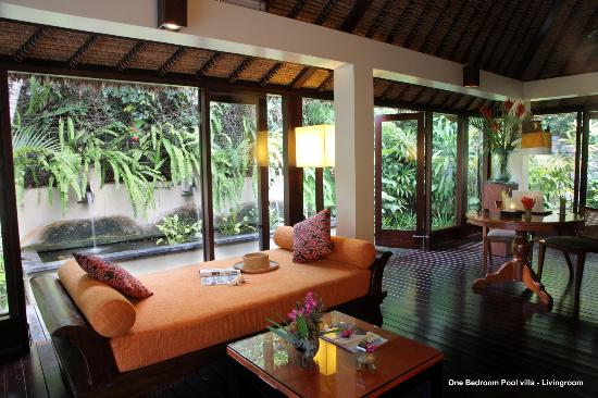 ‪‪The Pavilions Bali‬: Living area of One Bedroom Pool villa‬