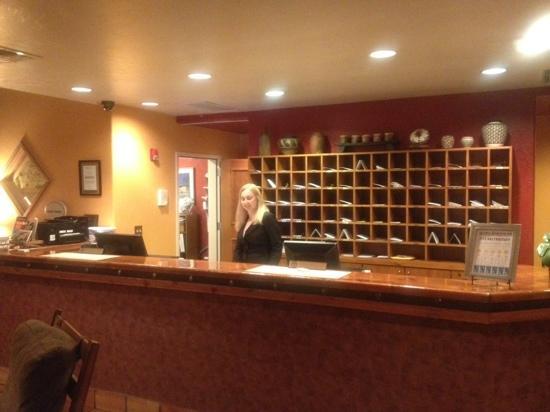 Table Mountain Inn: Front desk clerk, Alexandra.