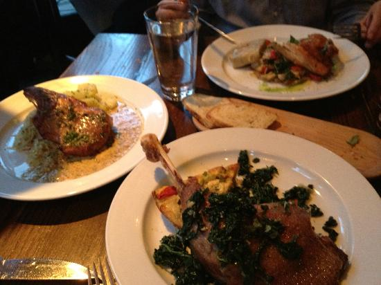 Il Villaggio Osteria : Mains- goose, chicken and venison