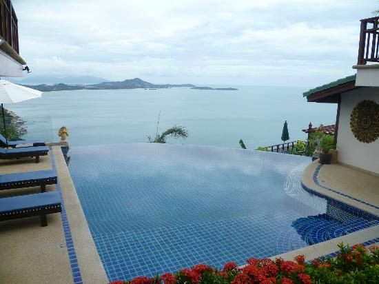 Sandalwood Luxury Villas: main pool next to Plumeria villa