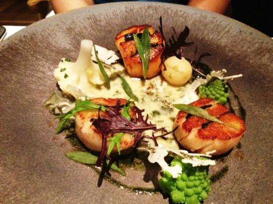 The Ledbury: Scallop and Seaweed (too fishy)
