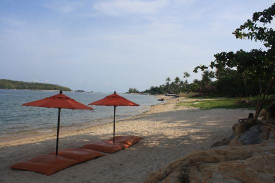 Bhundhari Spa Resort & Villas Samui : The beach at the bottom of the hotel