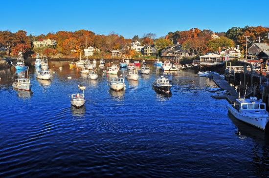 Ogunquit, ME: Perkins Cove from the footbridge