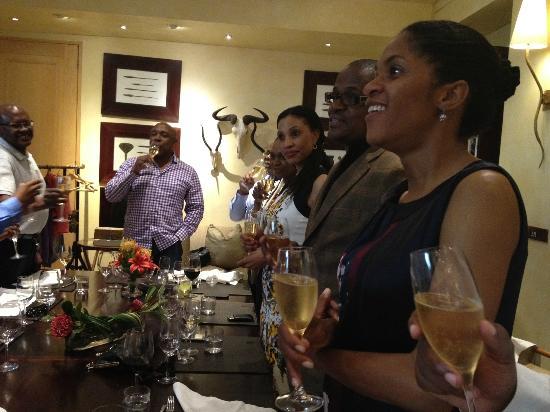 Saxon Hotel, Villas and Spa: Private dining room