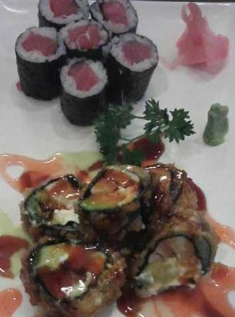 Ichiban Japanese Bistro and Steakhouse: Tuna Roll (top), Rising Sun Roll (below)