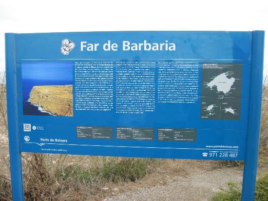 Es Cap de Barbaria Lighthouse: Beschreibung