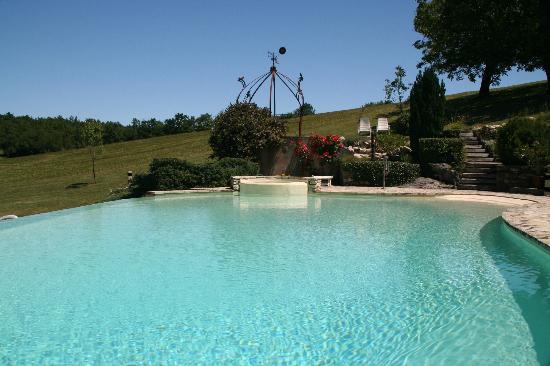 La Closerie de la Beyne: het zwembad, ligt mooi in het terrein