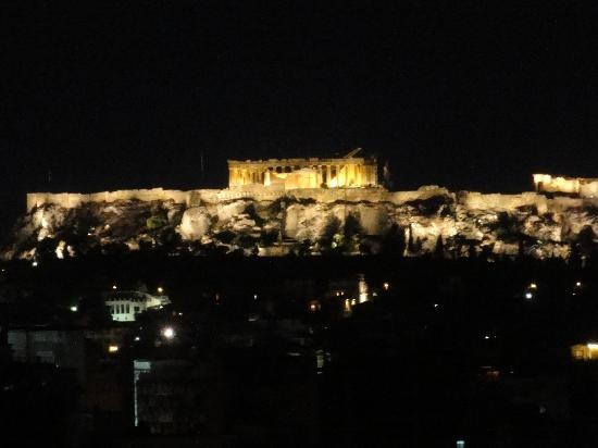 ‪إفريبيدس هوتل: VIew Of The Acropolis From Balcony