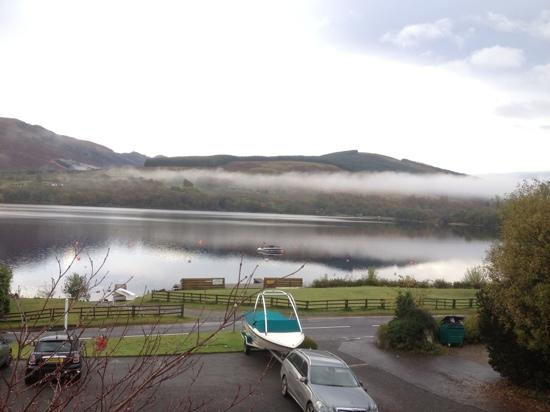 The Lochearnhead Hotel: view from hotel room