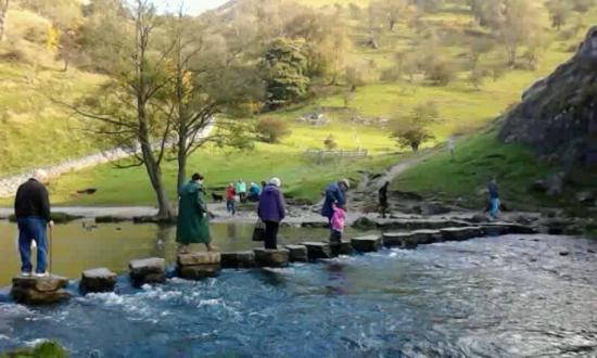 Dovedale: Stepping stones - suitable for all agaes!