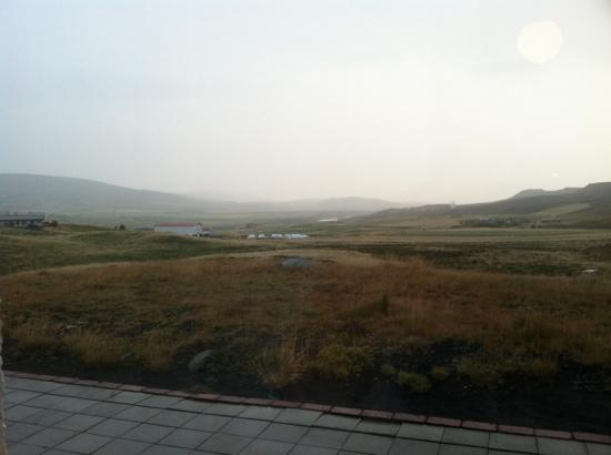 Hotel Gullfoss : view from the dining room