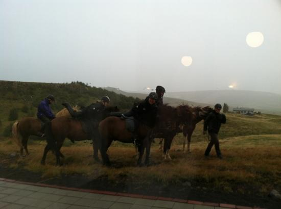 Hotel Gullfoss : other travelers seen through dining room window