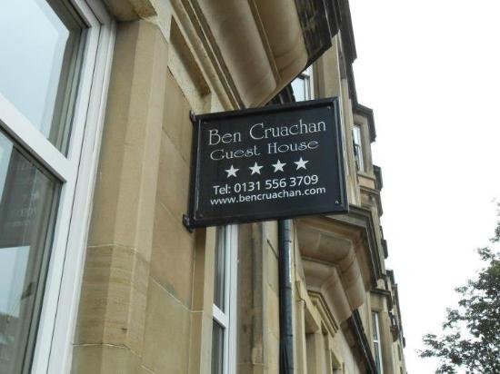 Ben Cruachan Guest House : Guest House Sign
