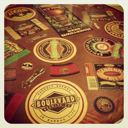 Boulevard Brewing Company : Cool table in the waiting area