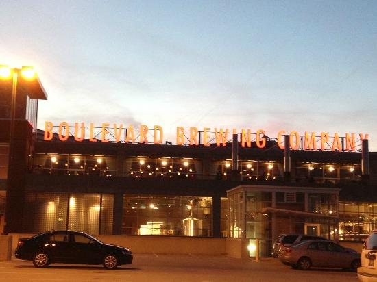 Boulevard Brewing Company: Boulevard sign at sunset
