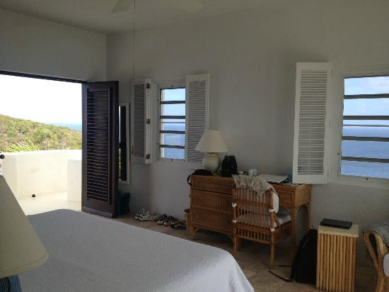 Guana Island: Upper Grenada room from bathroom