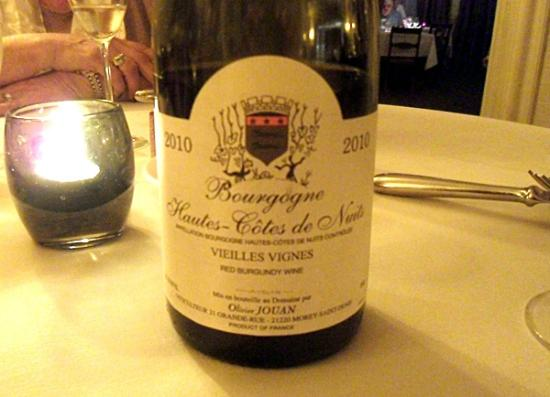 L'Alouette: The red Burgundy was excellent