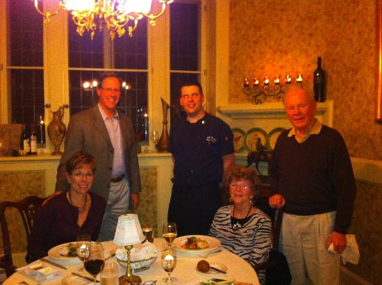 The Inn at Erlowest Restaurant : Dinner in the private dining room, photo with the Chef