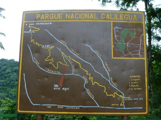 Parque Nacional Calilegua: Mapa