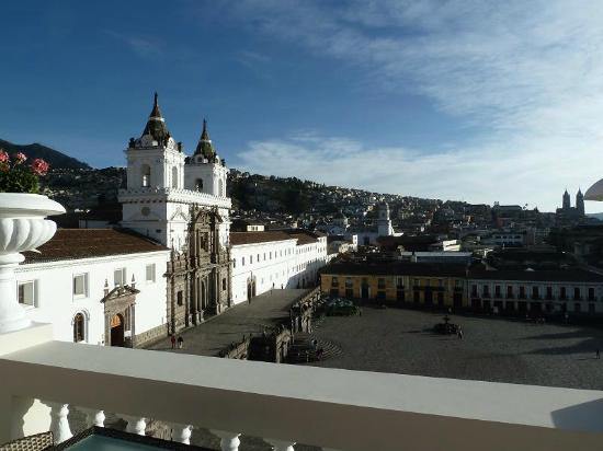 Casa Gangotena: View from the terrace - Plaza San Francisco