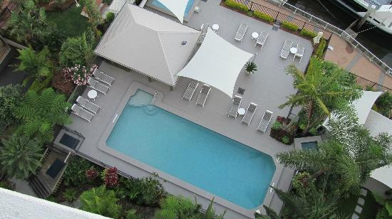 Moorings on Cavill Avenue: View of pool from 11th floor balcony