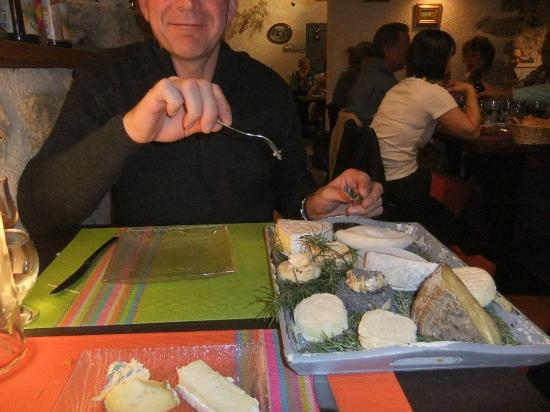 Lou Pebre d'Aï : cheese platter that is serve yourself-then it goes to next table