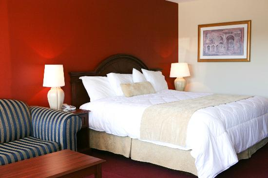 Saxony Motel & Restaurant: King Size Bed