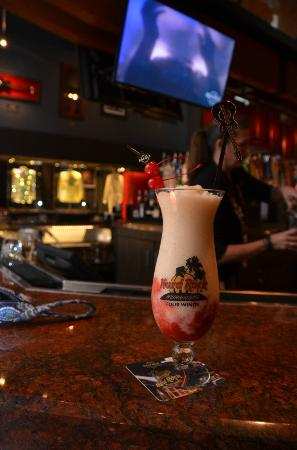 Four Winds Casino Resort: Signature frozen drinks in keepsake glasses at Hard Rock Cafe Four Winds