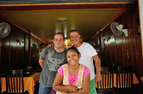 Marcondino Restaurant : Dino, Marco und seine Verlobte