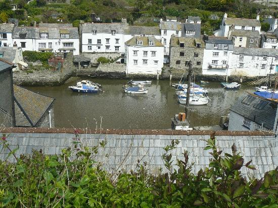 The Claremont Hotel: view of the harbour from the cliffs above polperro