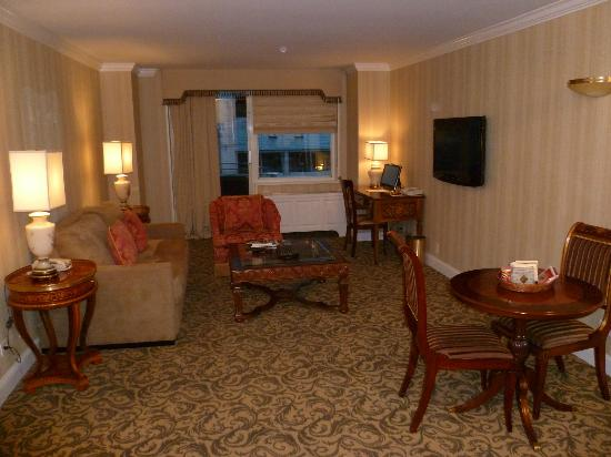 The Kimberly Hotel: sitting room area of our suite