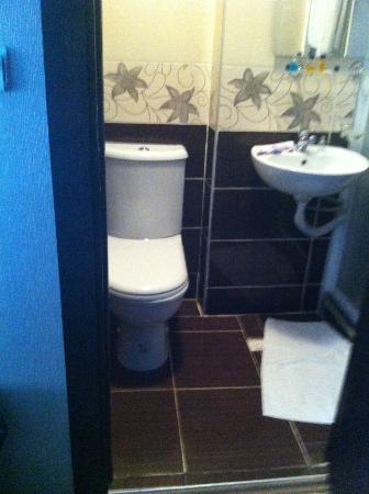 Grand Esen Hotel: Den rymliga toalettdelen