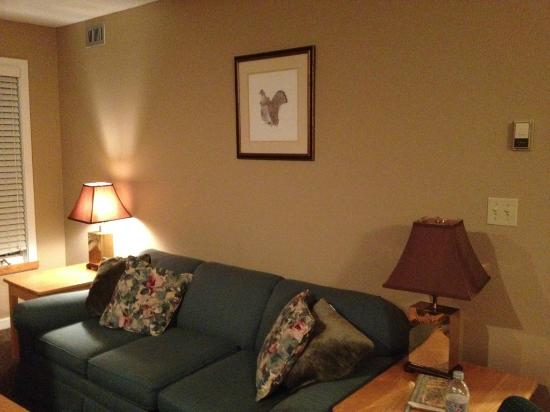 Mountain Lodge at Okemo: living room
