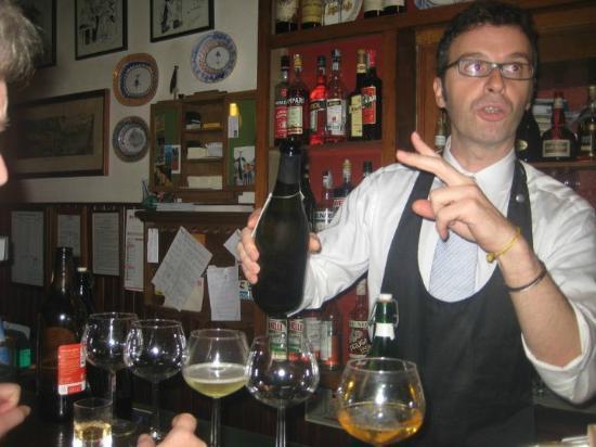 Albergo Ristorante Ai Pini : The Bar at the Restaurant with Giovanni