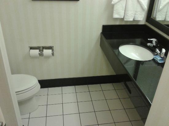 Fairfield Inn & Suites Lock Haven : nice size bathroom
