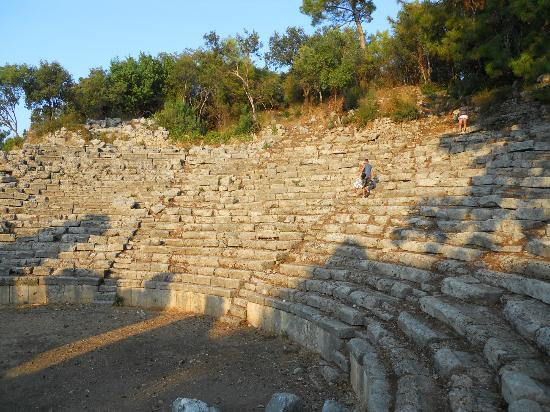Phaselis Antique City: Theater could hold 1500 - 2000 persons