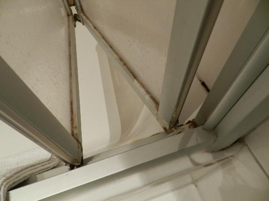 Seifert Hotel: Ecken in der Dusche/Duschtüre