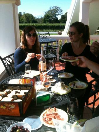 Raphael Winery: Enjoying our picnic