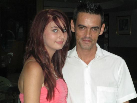 Reymar Hotel: my daughter and sergio (bar staff)