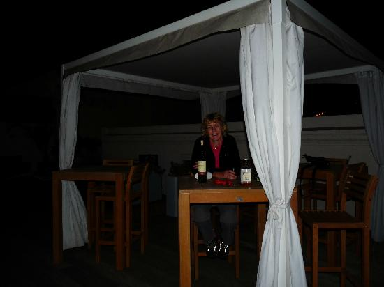 Marina di Castello: at the roof terrace at night