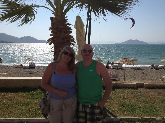 Gunes Hotel: Calish Beach with a lovely breeze
