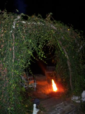 Dillsboro Inn: Back of arch at night