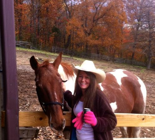 Rawhide Ranch: Hanging out with one of the horses