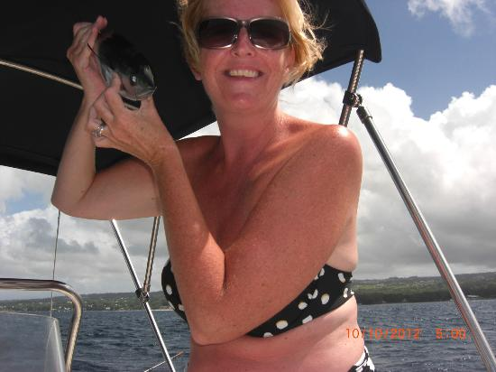 The Club, Barbados Resort and Spa: Catching fish whilst out on the speed boats