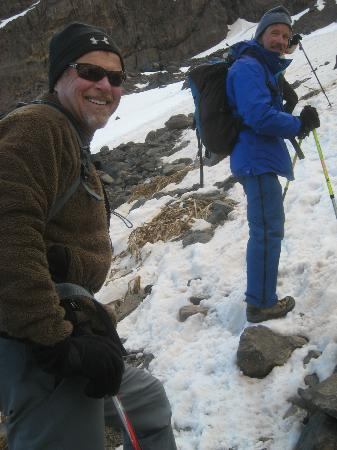 Toubkal Trekking: Approaching Mt Toubkal's summit