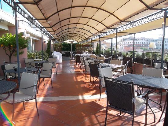 Sina Bernini Bristol: terrace restaurant