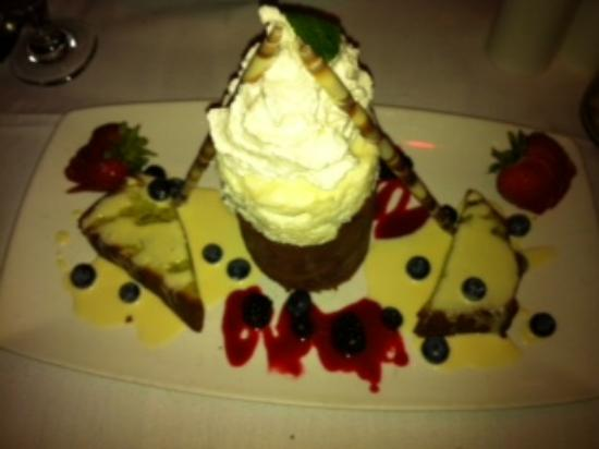 ... DeGennaro's: Black and white chocolate mousse and pistachio pound cake