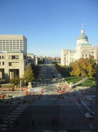 The Westin Indianapolis: View from the 4th floor facing Street