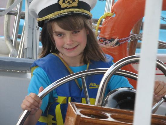 Blue Crab Chesapeake Charters : The happy face of a nine year old Co Captain.